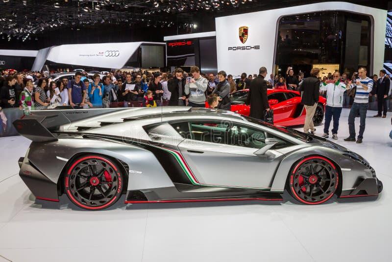 Lamborghini Veneno in Geneva Motor Show stock photos