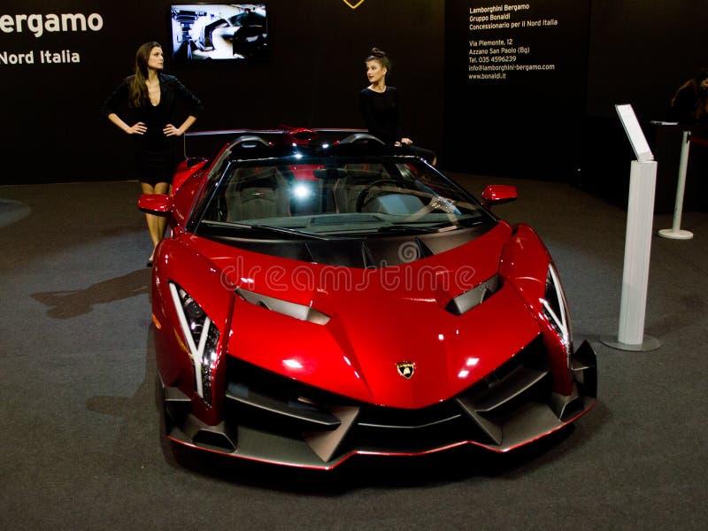 Lamborghini Veneno at Milano Autoclassica 2016 stock images