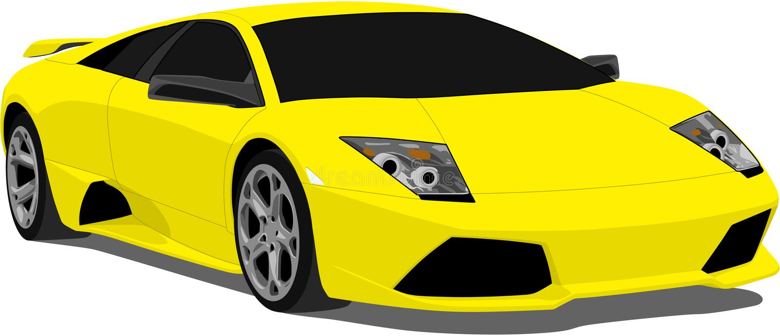 lamborghinimurcielagovektor stock illustrationer