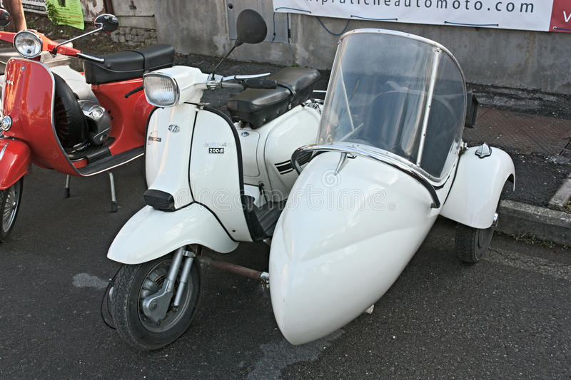 Download Lambretta sidecar editorial photo. Image of moped, vintage - 24420841