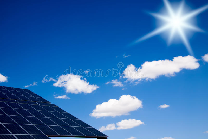 lambrisse photovoltaïque photo stock