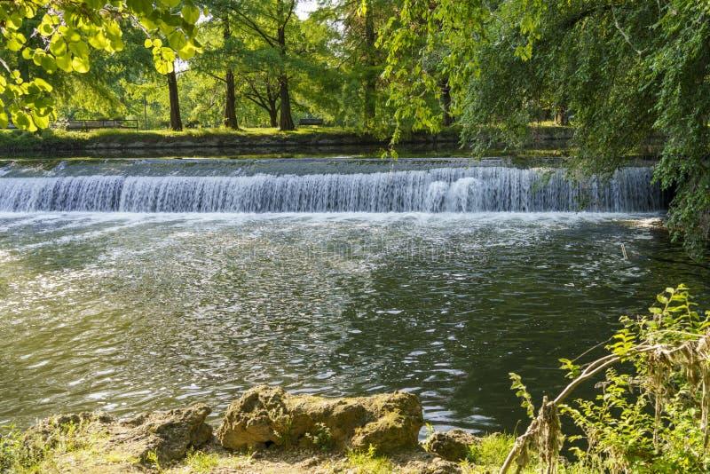 Lambro river in Milan, Italy stock photo