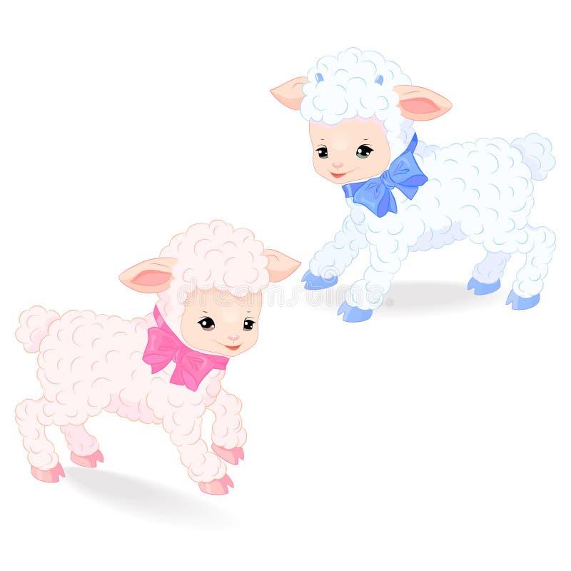 lambs little stock illustrationer