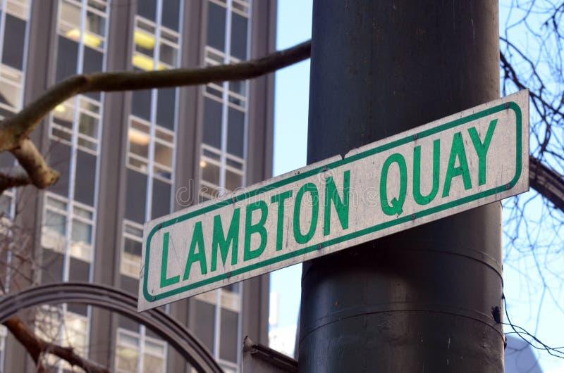 Lambton奎伊在惠灵顿-新西兰 库存图片