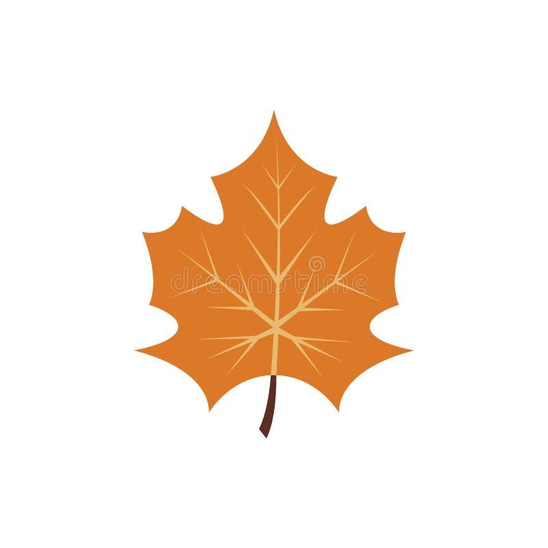 Lame d'automne Lame d'érable d'automne d'isolement sur un fond blanc Illustration de vecteur illustration stock