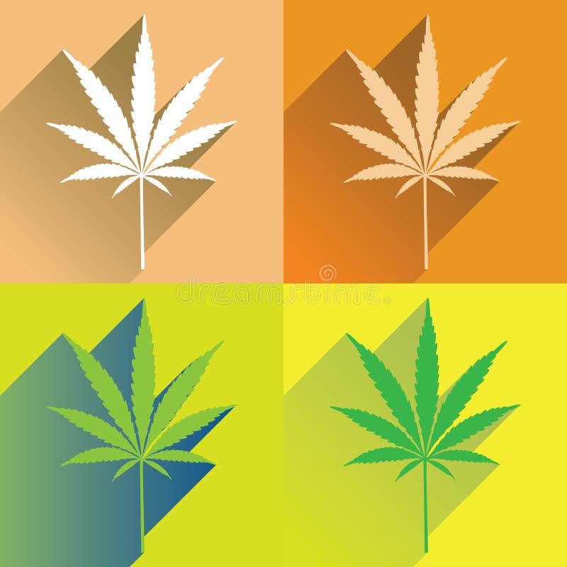 Lame de cannabis illustration stock