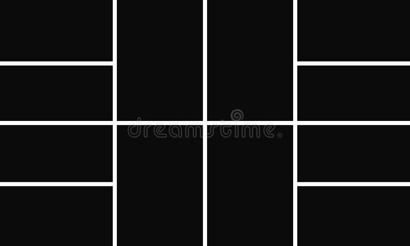 Lame de la photo collage L'image encadre le calibre Fond de vecteur d'abrégé sur montage de photo Illustration de collage de phot illustration stock