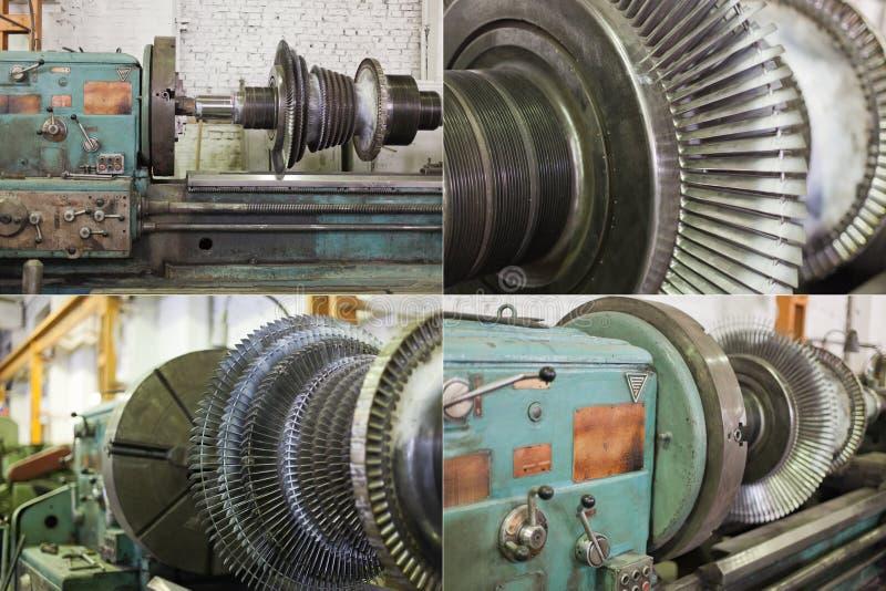 Lame di rotore del generatore fotografie stock libere da diritti