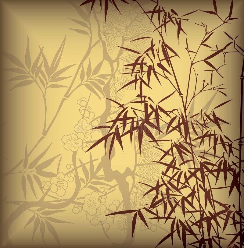 Lame en bambou illustration stock