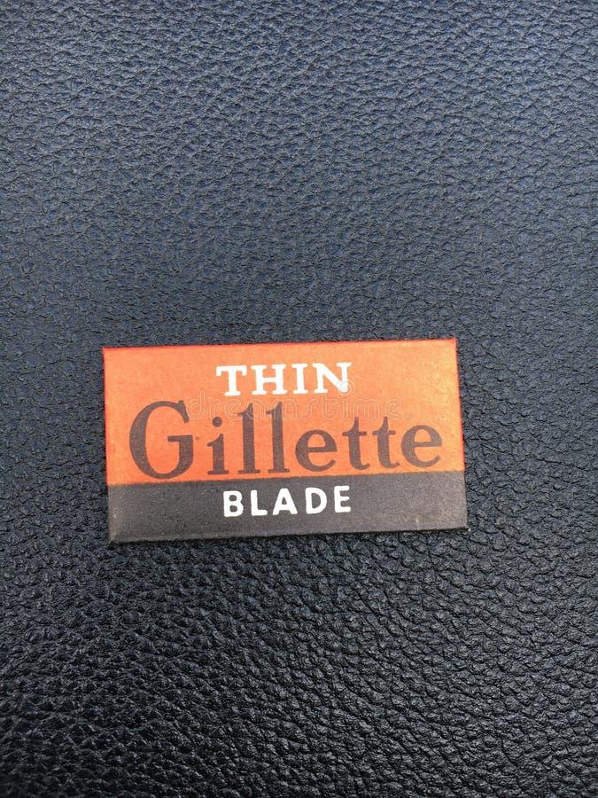 Lame mince Gillette photographie stock libre de droits