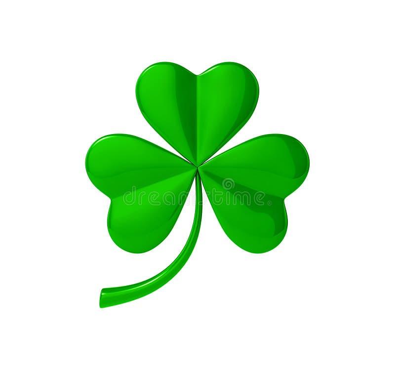 Lame verte de trèfle Jour du ` s de St Patrick illustration 3D illustration libre de droits