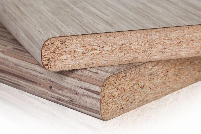 Lamellierte Spanplattenspanplatte wird in den Möbeln ind benutzt stockfotos