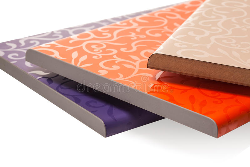 Lamellierte Spanplattenspanplatte wird in den Möbeln ind benutzt stockfotografie