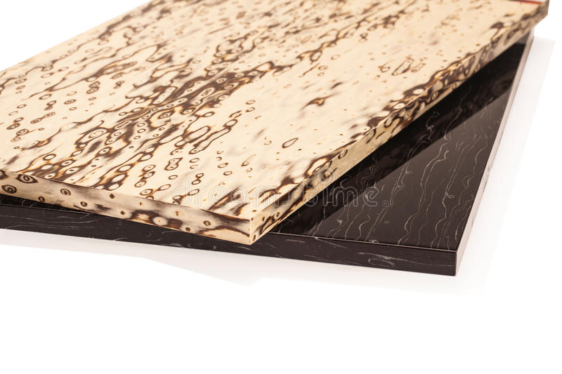 Lamellierte Spanplattenspanplatte wird in den Möbeln ind benutzt lizenzfreie stockfotografie