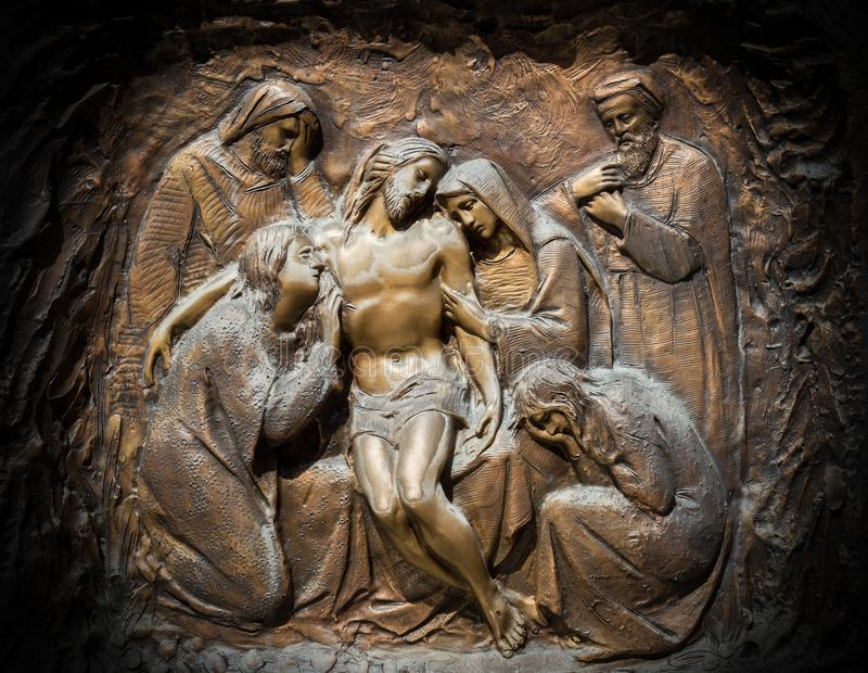Lamentation du Christ images libres de droits