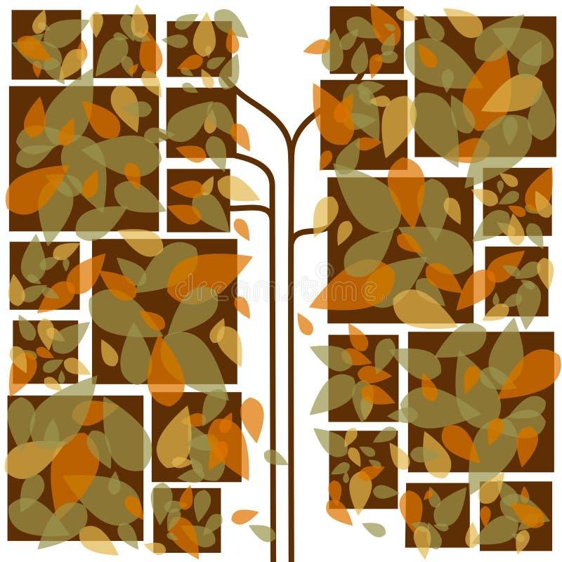 Lames d'automne colorées abstraites photos stock