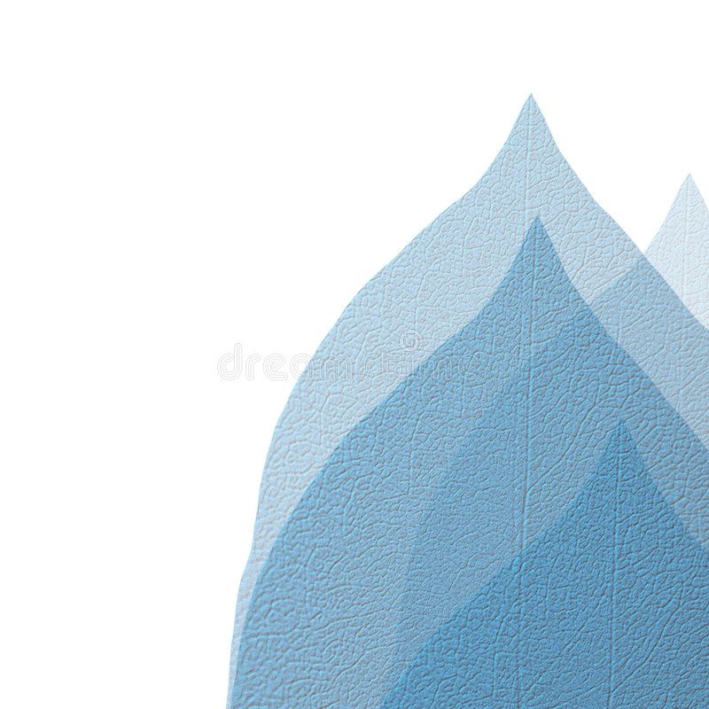 Lames d'isolement de bleu illustration de vecteur