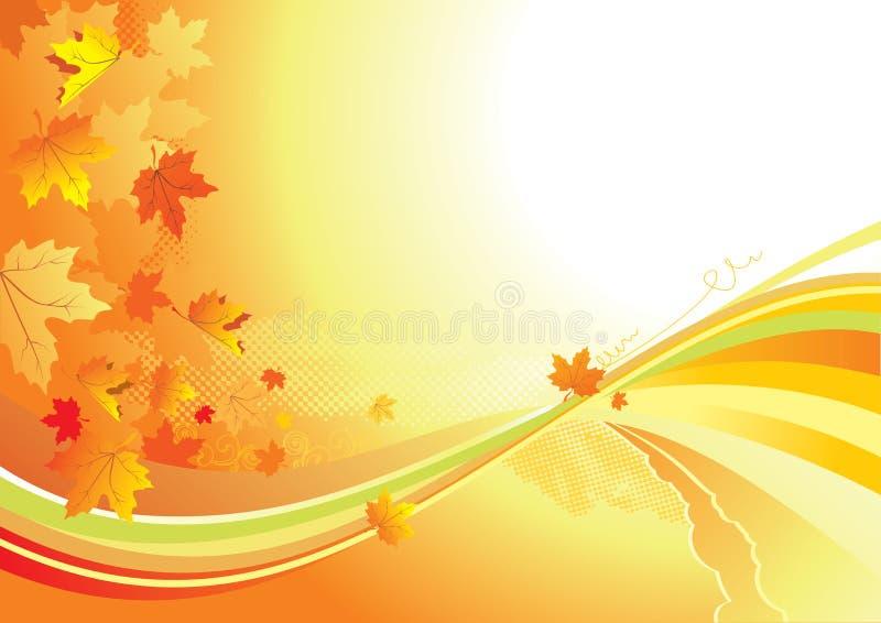 Lames de fond/or d'automne illustration libre de droits
