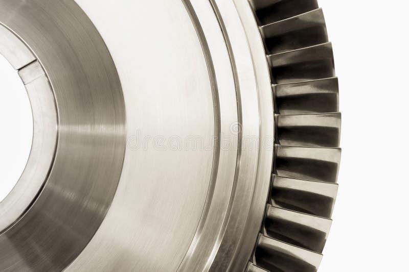 Lames de turbine d'avion à réaction photo libre de droits