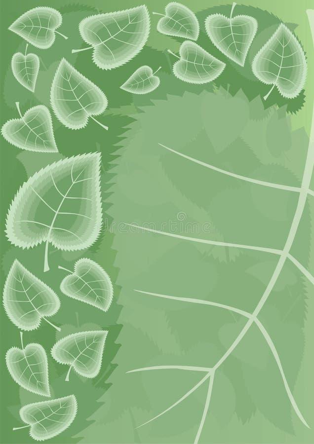 Lames de vert d'été illustration libre de droits