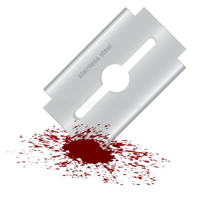 Lametta sanguinante illustrazione vettoriale