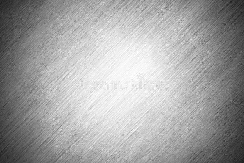 Lamiera sottile grigia del fondo di struttura con i graffi Piatto d'acciaio lucidato illustrazione di stock