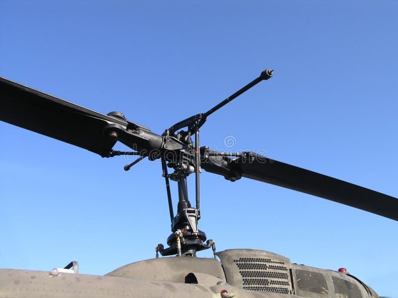 Lamierine di rotore dell'elicottero fotografia stock libera da diritti