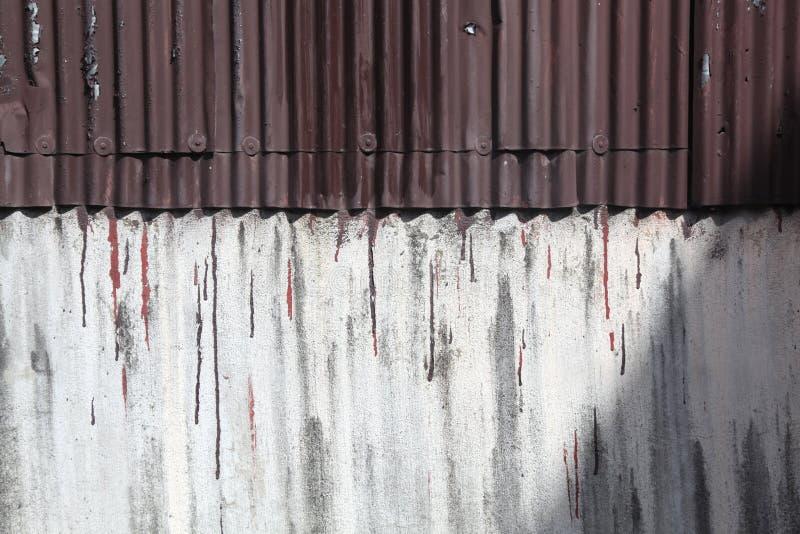 Lamina di metallo ondulata fotografia stock libera da diritti