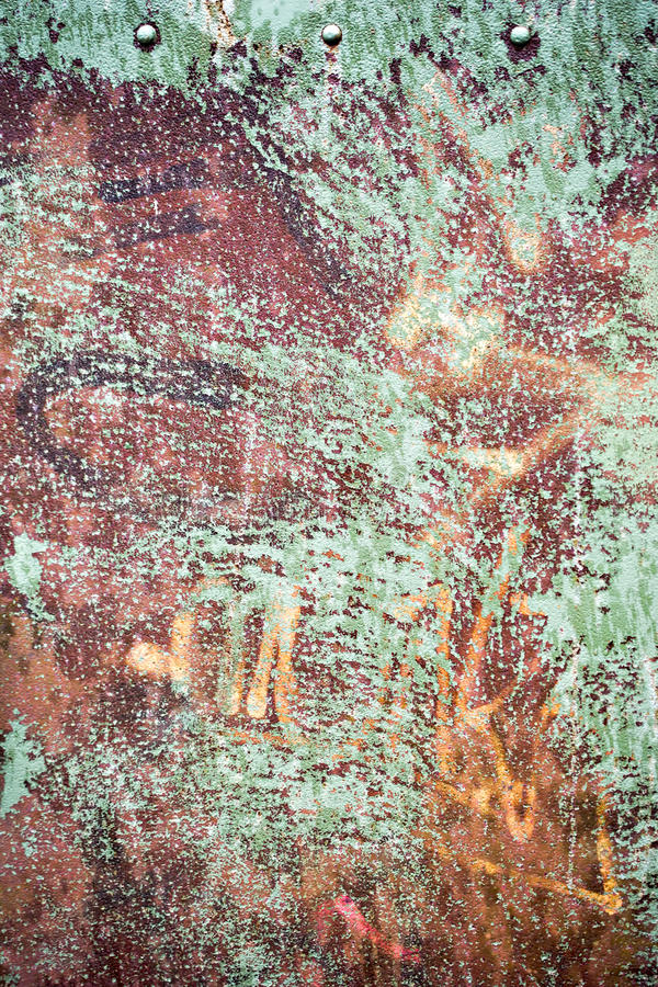 Lamina di metallo verde d'annata fotografie stock
