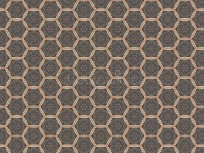 Lamina en el piso bajo la forma de modelo de la malla de repetir hexágonos imagenes de archivo