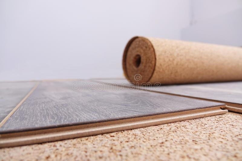 Laminate Flooring. improvement,. Laminate Flooring. improvement construction hardwood royalty free stock photo