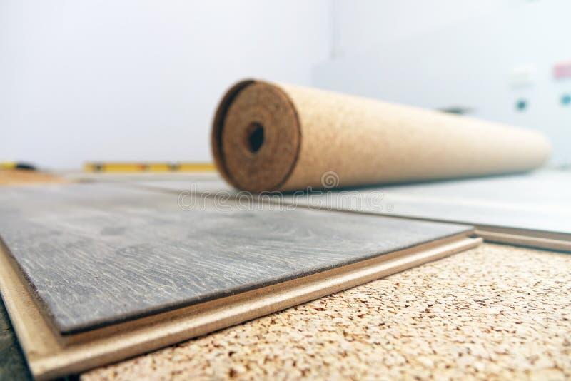 Laminate Flooring. improvement,. Laminate Flooring. improvement construction hardwood stock photography
