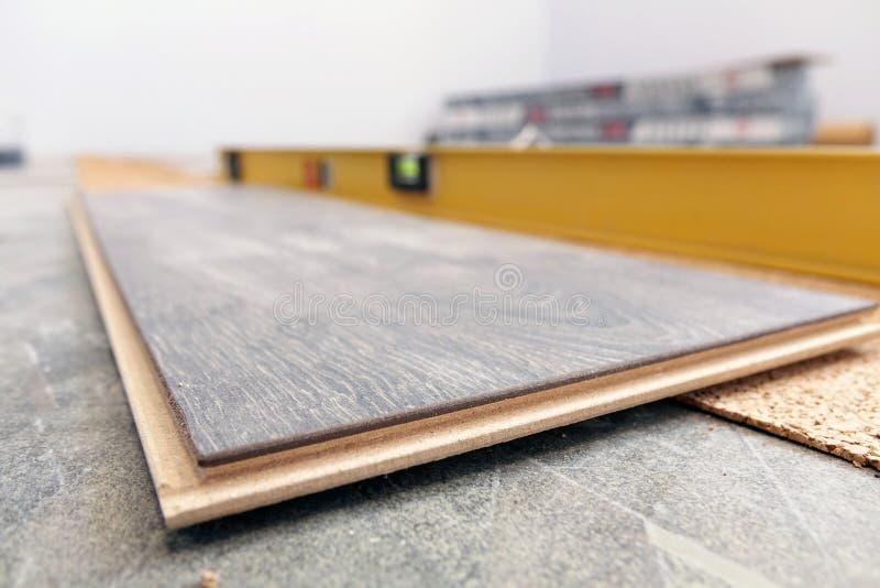 Laminate Flooring. improvement,. Laminate Flooring. improvement construction hardwood royalty free stock images