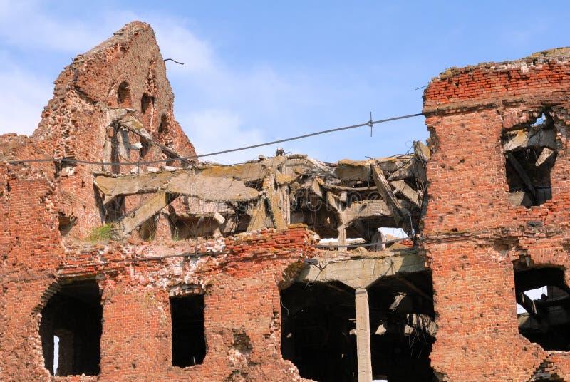 Laminatoio distrusso lotta Volgograd di Stalingrad di panorama del museo fotografie stock libere da diritti