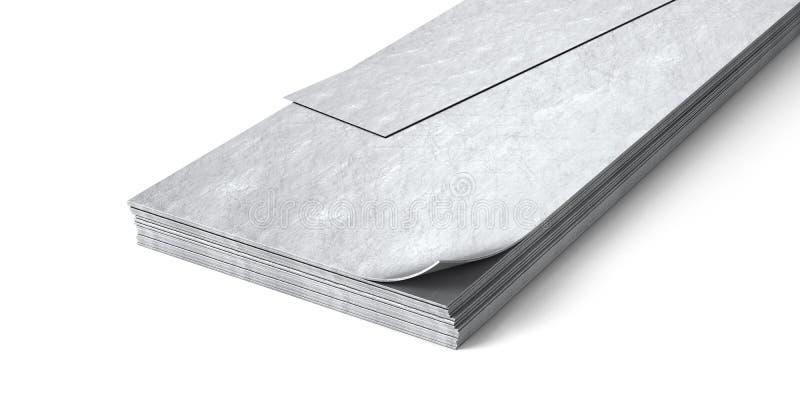 Lamine di metallo isolate su fondo bianco royalty illustrazione gratis
