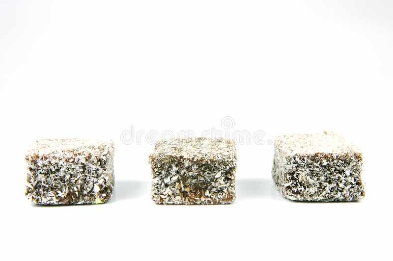 Lamingtons fotografia stock