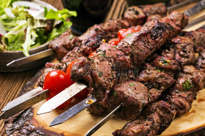 Lamm Kebab stockbild