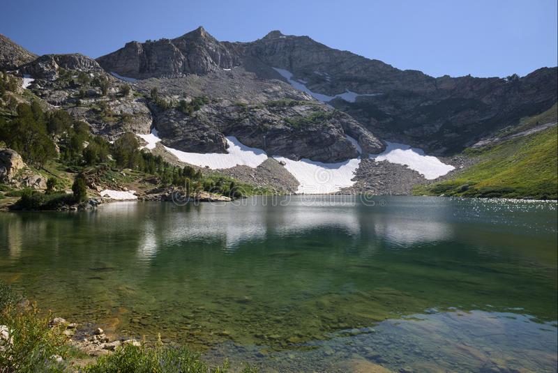 Lamoille Lake in the Ruby Mountains. Of Nevada stock images