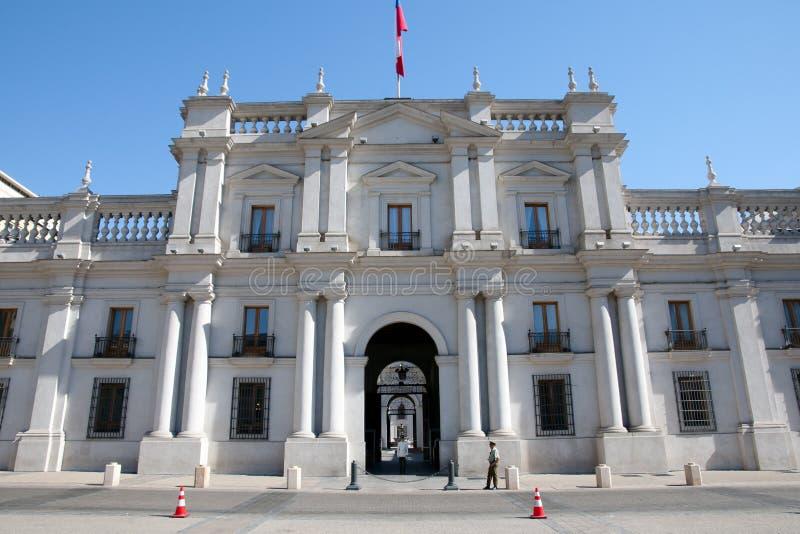LaMoneda presidentpalatset - Santiago - Chile royaltyfria foton