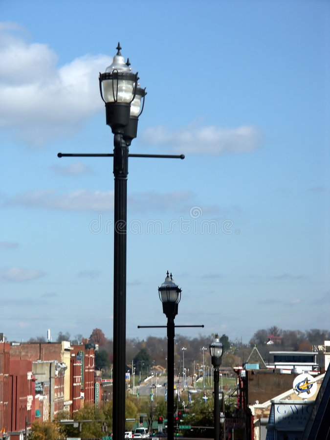Download Lamp stock image. Image of road, blue, lamp, post, power - 150555