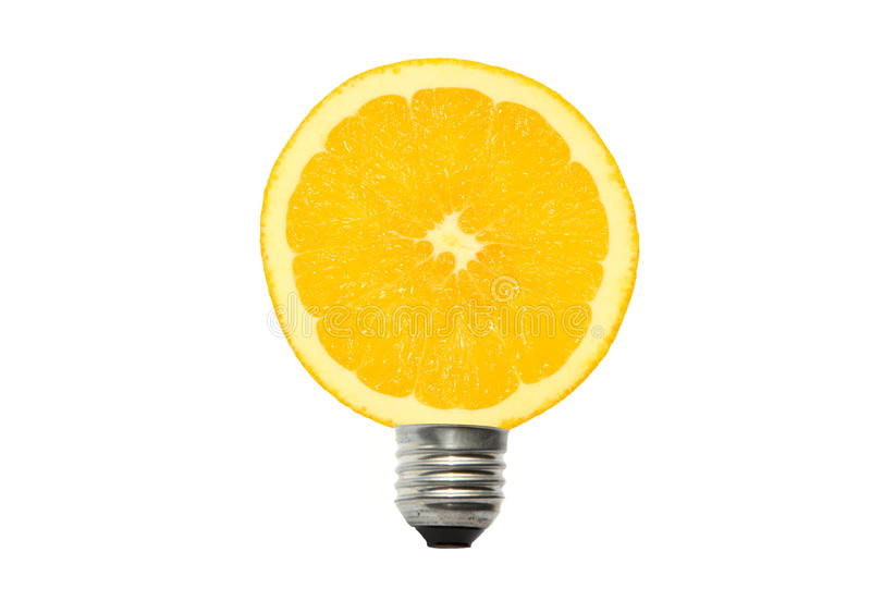 Download Lamp stock image. Image of electric, conservation, orange - 27875027