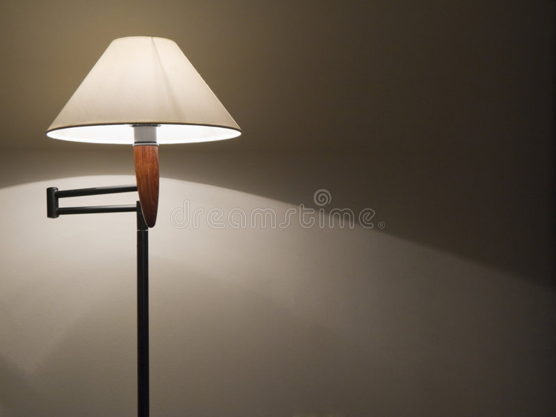 Lamp. Room with ambient lighting of standar lamp royalty free stock image