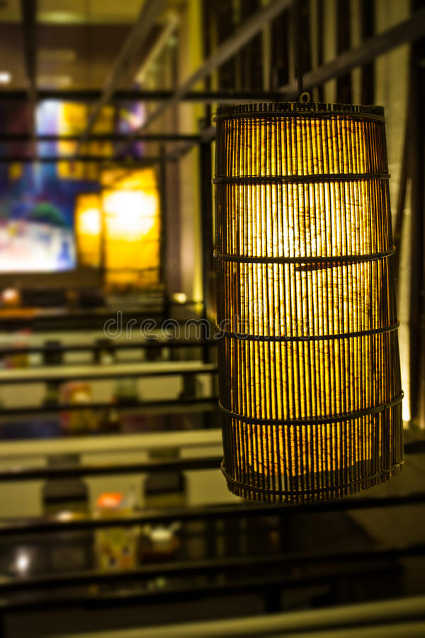Download Lamp of wood stock image. Image of shade, bamboo, yellow - 30222353