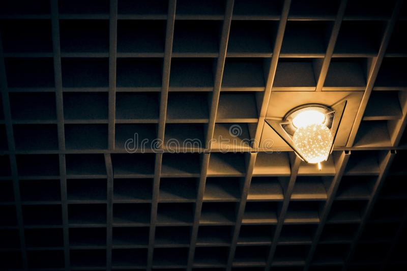 Lamp bead in the ceiling steel. The lamp bead in the ceiling steel royalty free stock photography