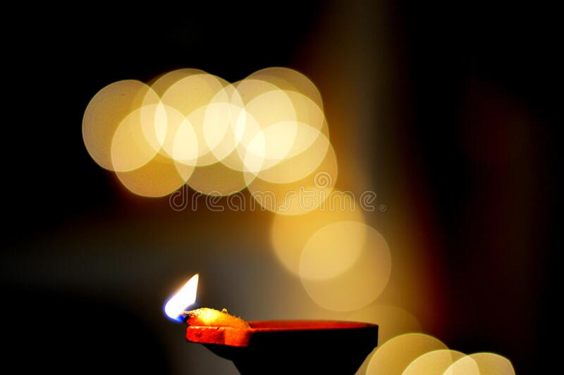 Lamp and bokeh lights royalty free stock images