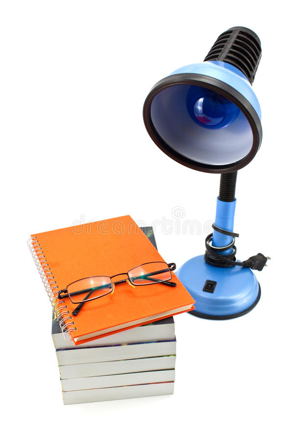 Download Lamp and book stock photo. Image of hardcover, isolated - 17086138