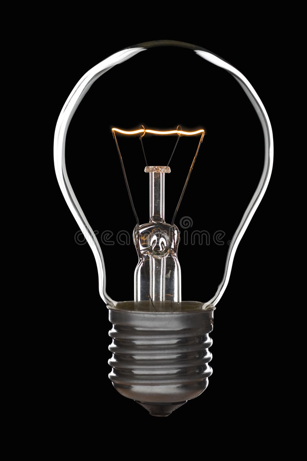 Lamp bulb stock photo