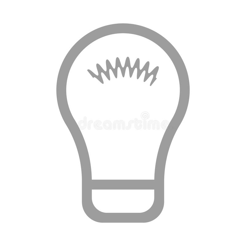 Lamp  bulb outline flat style vector eps10. bulb sign. Idea icon. Bulb icon isolated on light background. Symbol of lighting. stock illustration