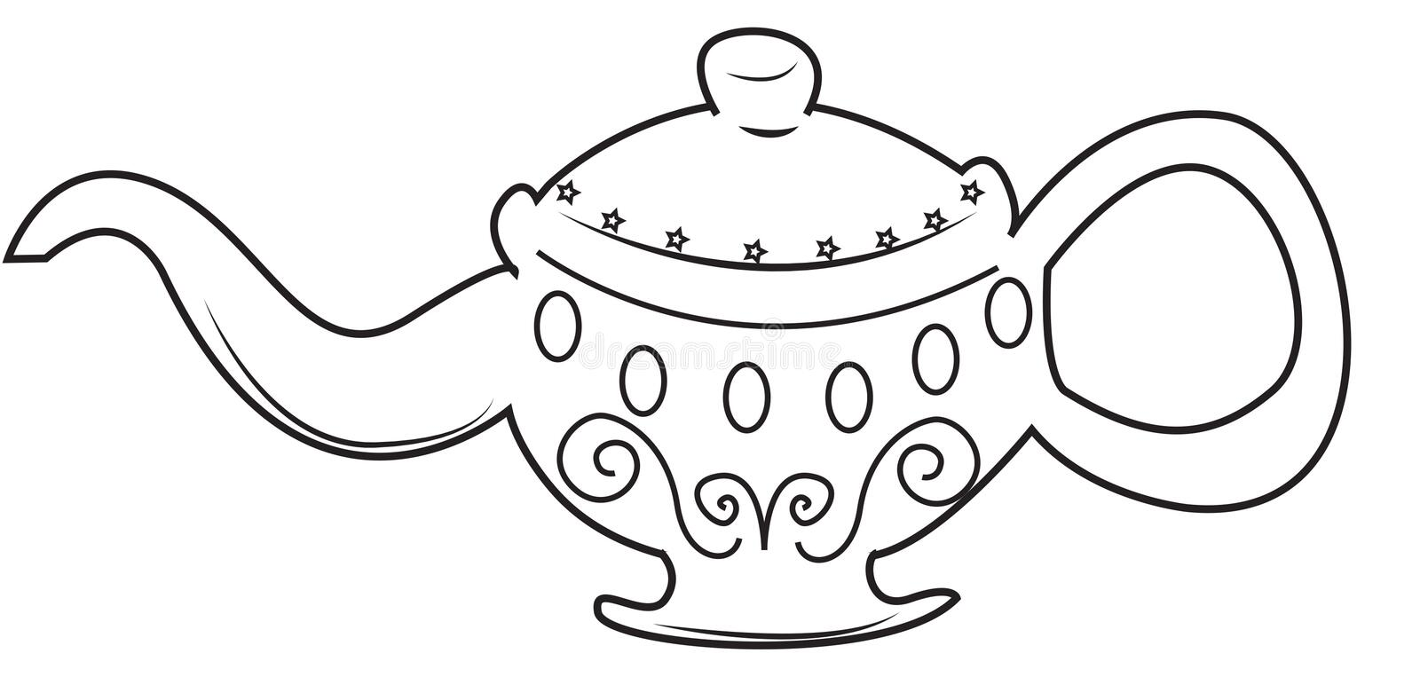 Lamp coloring page. Useful as coloring book for kids royalty free illustration