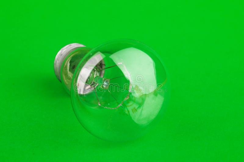 Lamp. The concept of energy conservation, earth day. The subject of technology and electrical theme stock images